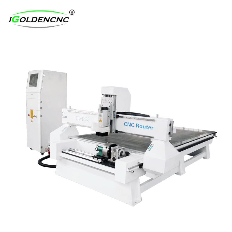 Woodworking Cnc Router Front with 4 Axis Rotary Axis