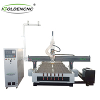 ATC engraving machine with rotary shaft