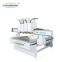 3D woodworking carving machine cnc router with 4 head